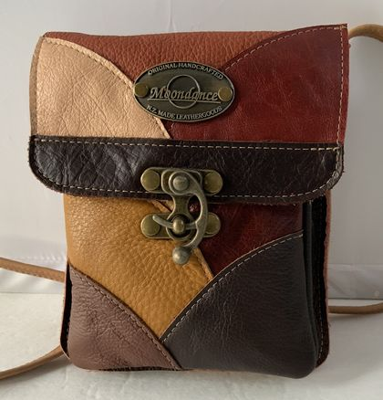 JJ7 Brown Multi. Coloured Leather Bag