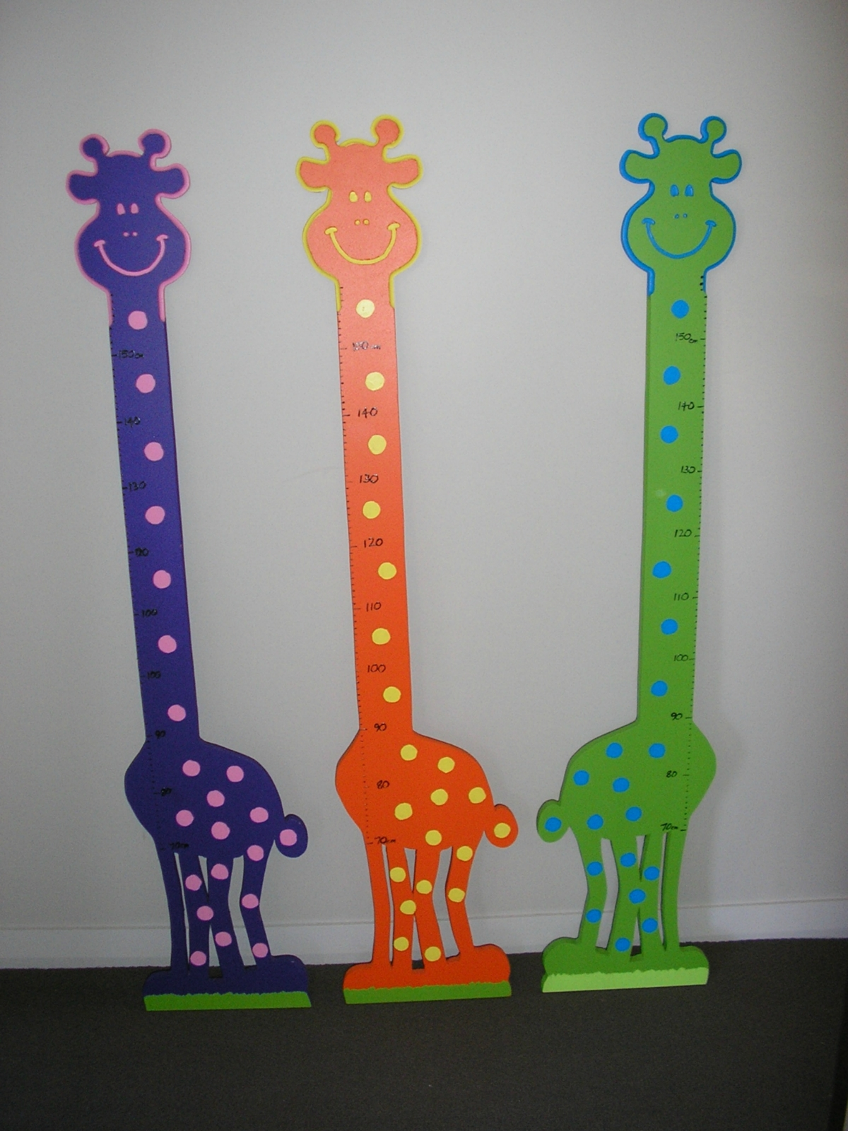 Wooden Giraffe Height Chart Felt