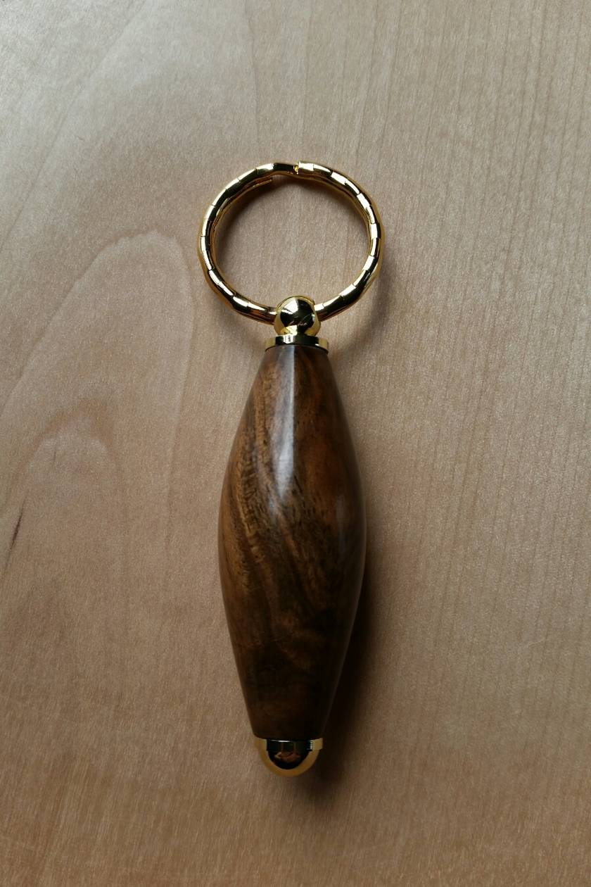 Walnut Wood Key Fob