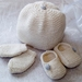 Lovells Knits - Merino New Born Set - Hat, Slippers & Mittens