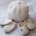 Lovells Knits - Merino New Born Set - Hat, Slippers & Mittens