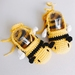 Hand crocheted baby booties - Bumble bee