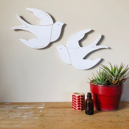 Flying Swallows Garden Art