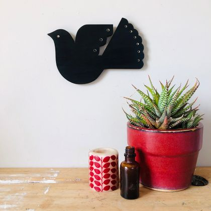 NZ Fantail Bird Garden Art-Small
