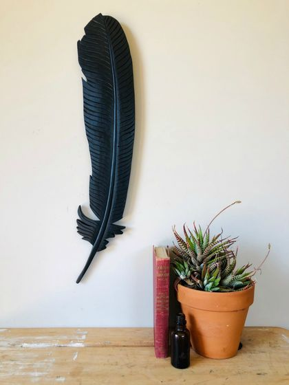 Rimu Tui Feather Wall Art
