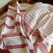 Handwoven kitchen / tea towels  'Classic Red and White'