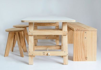 Kids' Trestle Table & Chairs