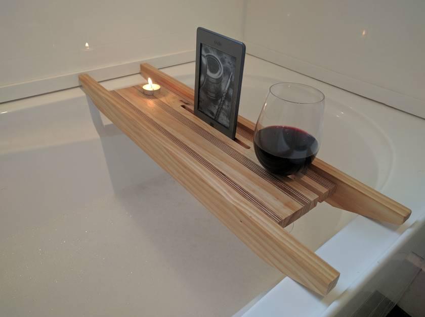 Wooden Bath Rack | Felt