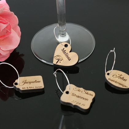 Wedding or Engagement Table Names | Place names | Favors - Wine Charms