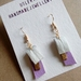 Purple and Gold Pendant Earrings