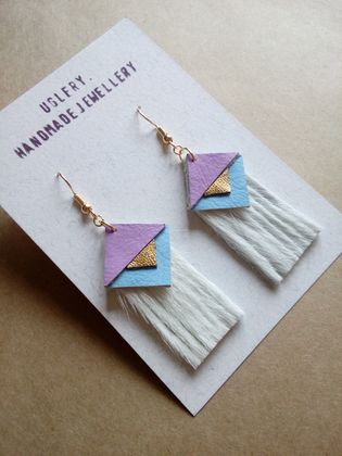 Aztec Inspired Leather Earrings