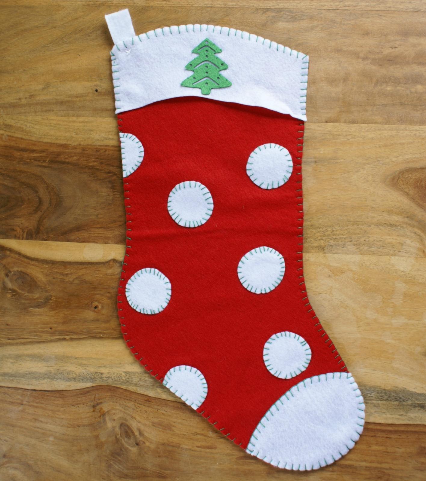 Red Felt Christmas Stocking