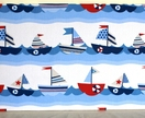 Beautiful 'Sailing boats' memo board. 40 x 80 cm