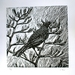 'Lone Tui' woodcut print