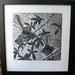'Frolicking Fantails' Woodcut print