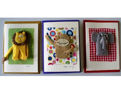 Animal finger puppet card.
