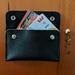 Slim leather wallet Black