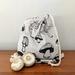 Two Produce Bags Reusable Medium Drawstring Mushroom
