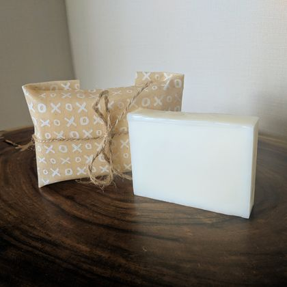 Solid lotion bar with Beeswax wrap - great gift!