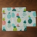 Reusable Snack Bags - Set of 2 - Eco friendly - Pineapple print
