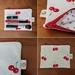 Zipper pouch Cosmetic bag Cherry print
