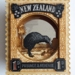 Kiwi bird - Vintage Postage Stamp Wall Art