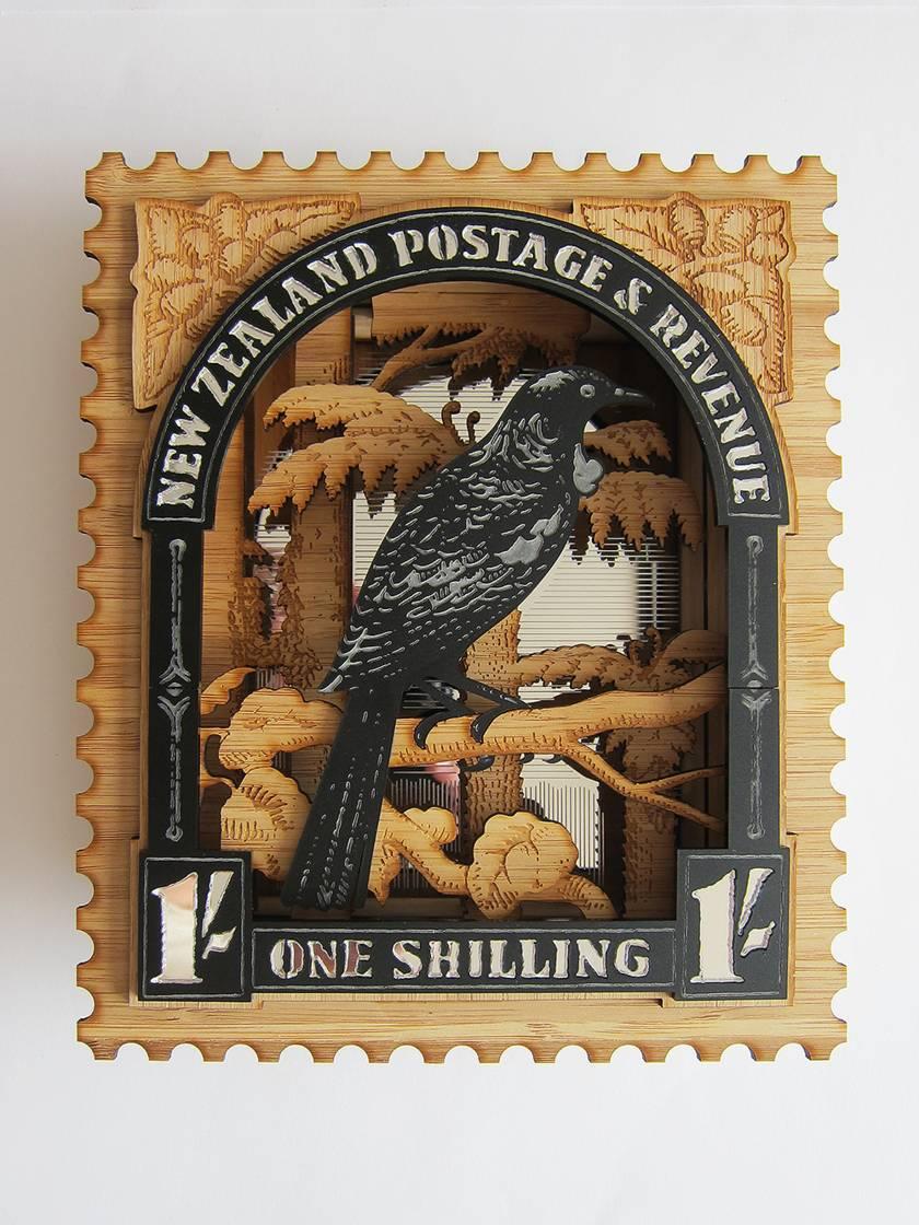Tui - Vintage Postage Stamp Wall Art