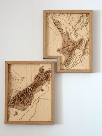 New Zealand Map - 3D Wall Art