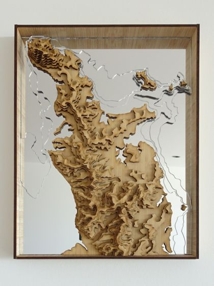 Coromandel Peninsula Map, New Zealand - 3D Wall Art