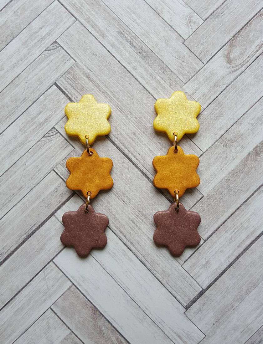 Kompeitô Earrings (cacao)