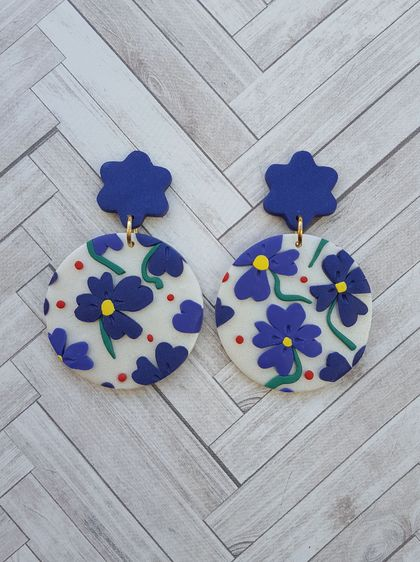 Aoi Hana Earrings (flower top)