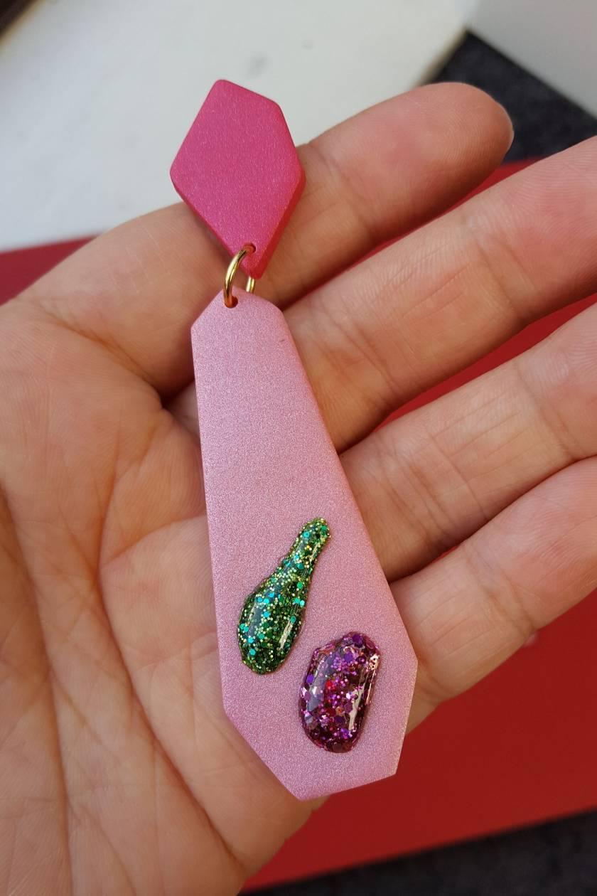 Droplet Earrings (pink)