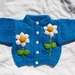 Daisy Cardigan  - Hand knitted - Wool