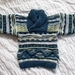 Colours of the Bay - Hand knitted - Wool - Shawl Neck Sweater