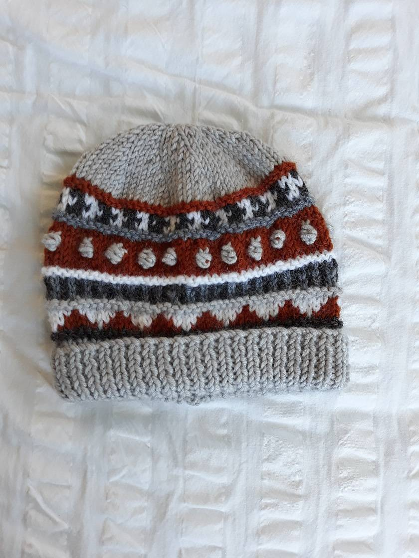 Ewe Beanie for a 1 year old - Wool - Hand knitted  16d76c02417