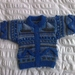 Yachts in Blue - Hand knitted  - Wool - Cardigan