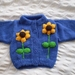 Sunflower cardigan - Hand knitted - Wool
