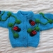 Lady Bug Cardigan - Hand knitted - Wool