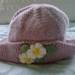 Vintage pink - Hand knitted - Wool - Baby Hat - Flowers