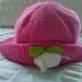 Pink Hat with mouse - wool