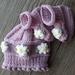 Olivia Hat & Booties Set - Pink