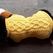 Yellow woollen dog coat