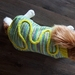 Hand knitted woollen dog coat