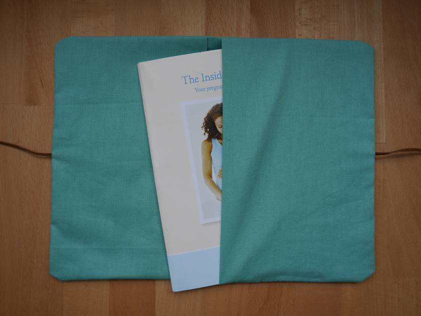 Home stitched personalized health book with customized lettering