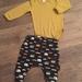Mustard baby outfit/ merino