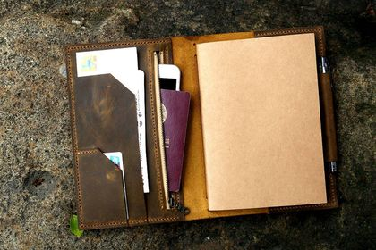 The Travelers Leather Portfolio Case