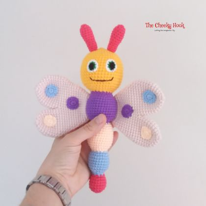 Crochet Butterfly Rattle.