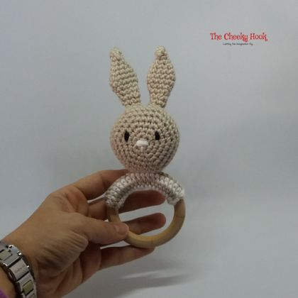 Crochet Bunny Teething Ring.