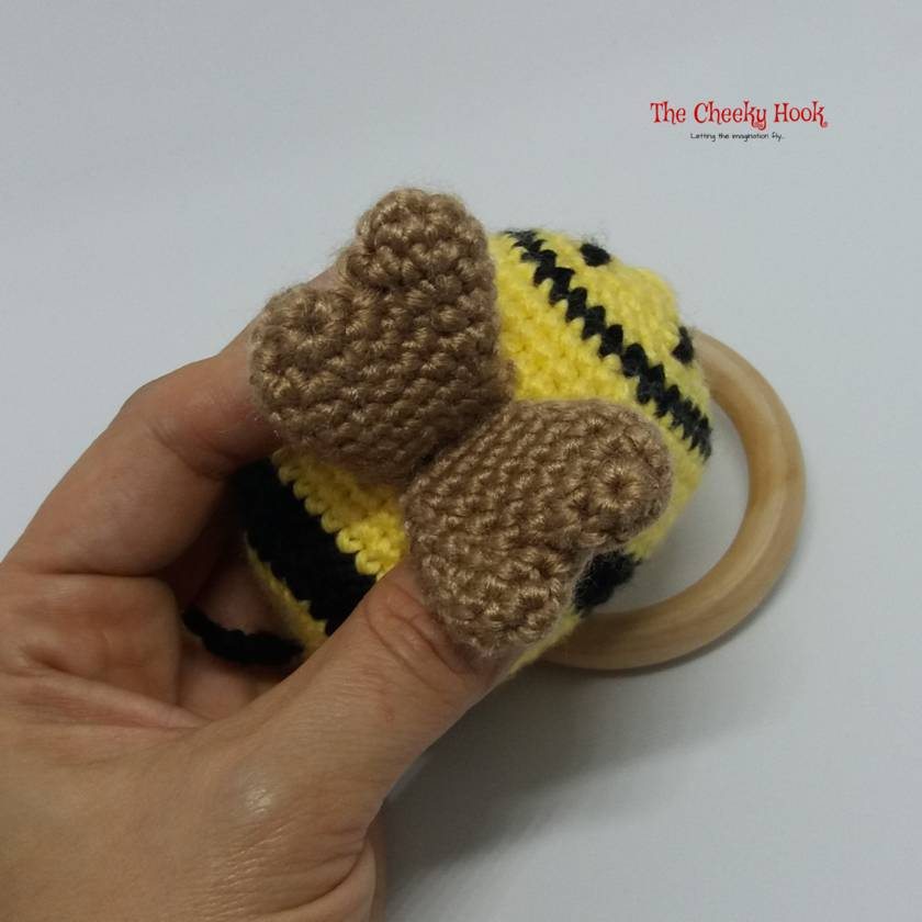 Ravelry: Bumble Bee Rattle pattern by Lena's Amigurumi | 840x840