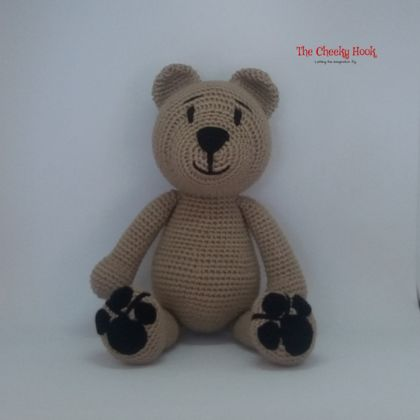 Crochet Teddy Bear Toy. Handmade Teddy Bear Cuddly Amigurumi.